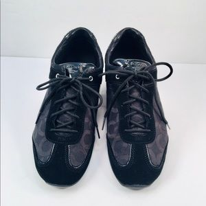 Coach Black Canvas Sneakers